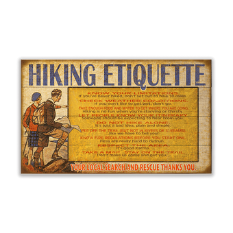Hiking Etiquette Sign