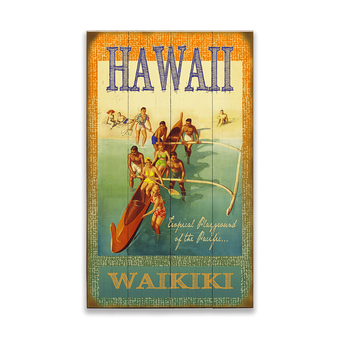 Hawaiian Outrigger Canoe Sign