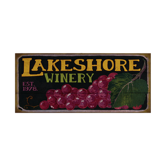 Winery (Grape Cluster) Sign