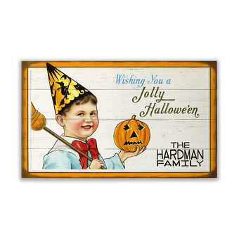 Wishing You a Jolly Halloween Sign