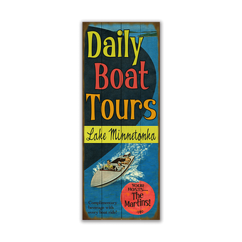 Daily Boat Tours Sign