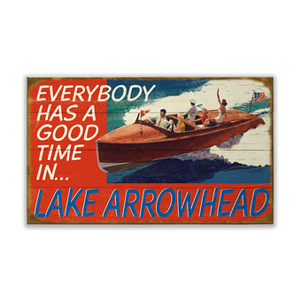 Everybody has a Good Time in... (Boating Sign)