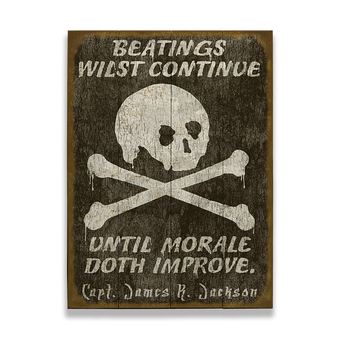 Beatings on the Jolly Roger (Pirate) Sign