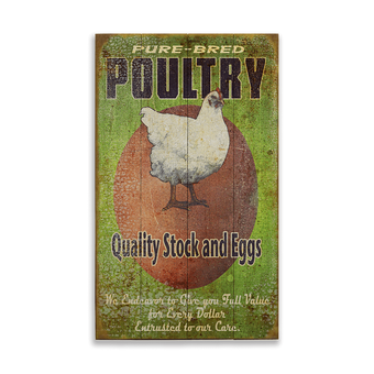Pure Bred Poultry Sign