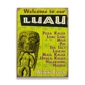 Welcome to our Luau Vintage Sign