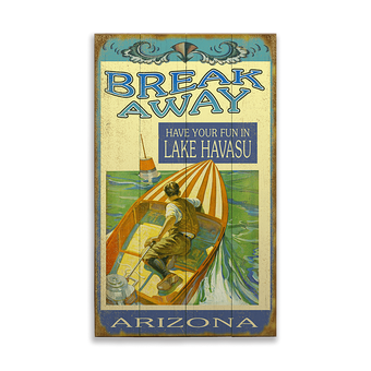 Break Away Boating Sign