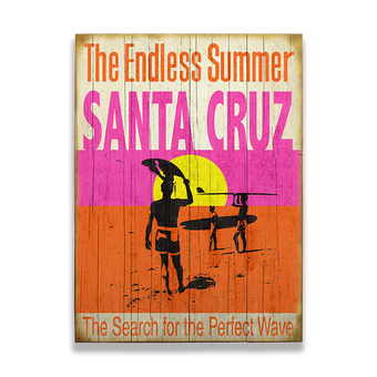 Endless Summer Surfer Silhouettes Sign