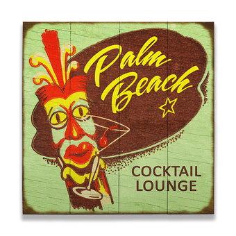 Tiki Cocktail Lounge Vintage Sign