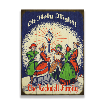 Oh Holy Night Carolers Sign