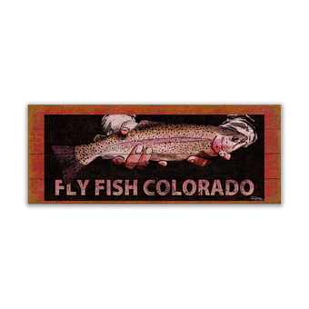 Rainbow Trout Fish Sign