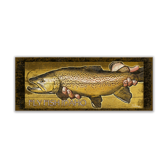 Brown Trout Fish Sign