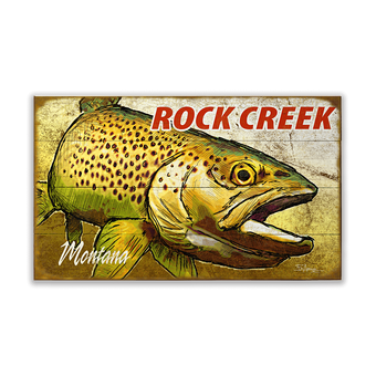 Close-up Trout Sign