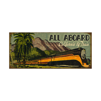 All Aboard Mountain Train Sign