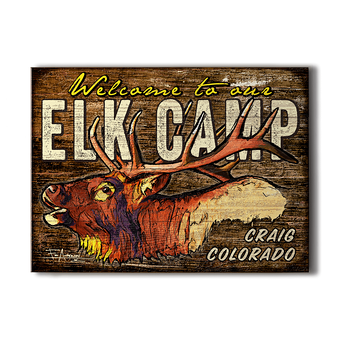 Bugling Elk Camp Sign