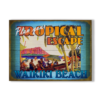 Plan Your Tropical Escape Sign