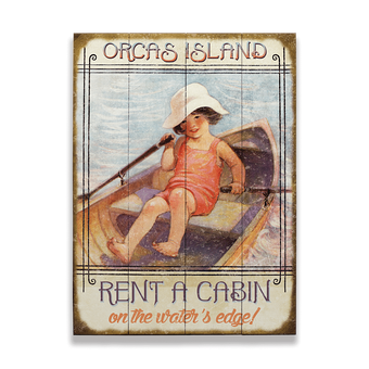 Rent a Cabin Sign