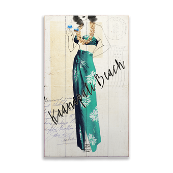 Fashionable Muumuu Postcard Series Sign