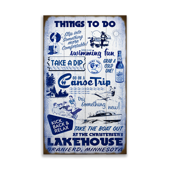 Things to do at the Lakehouse Sign
