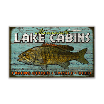 Lake Fishing Cabins Sign
