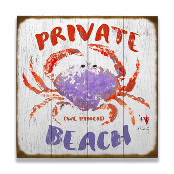 We Pinch Private Beach Sign