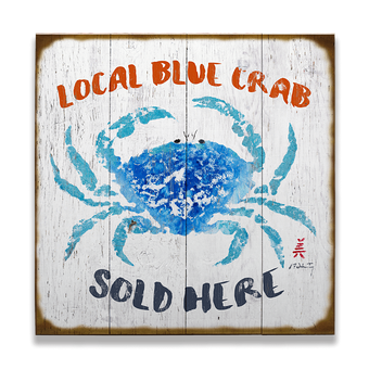 Crab Sold Here Sign