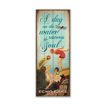 Day On The Water Vintage Sign