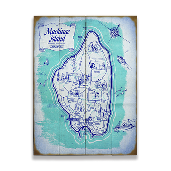 Map of Mackinac Island Sign