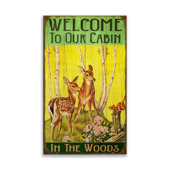 Fawns at the Cabin Welcome Sign