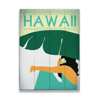 Relaxing Wahine Sign