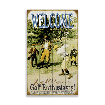 Welcome Fellow Golf Enthusiasts Sign