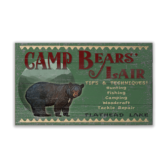 Camp Bears' Lair Sign