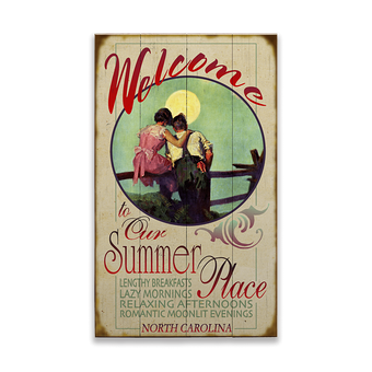 Welcome to Our Summer Place Sign