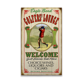 Golfer's Lounge Sign