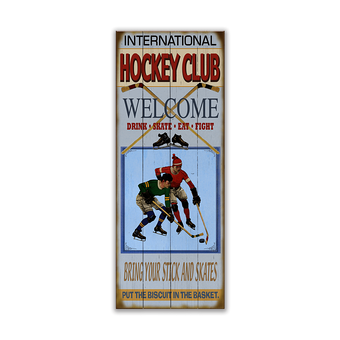 Hockey Club (Blue) Sign