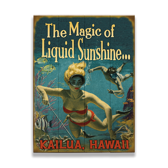 Liquid Sunshine (Snorkler) Sign