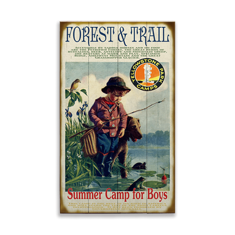 Summer Camp For Boys Sign