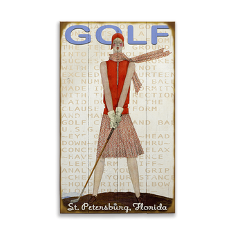 Retro Lady Golfer
