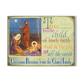 Christmas Blessings Jesus Mary and Joseph Sign