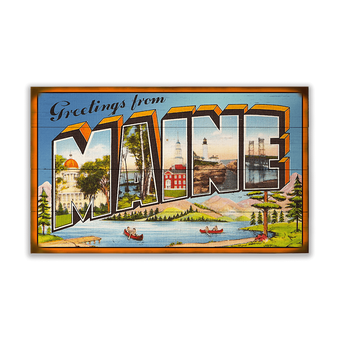 Greetings from Maine Sign, Large Letter