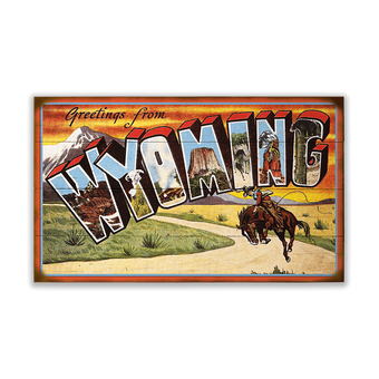 Wyoming Sign, Large Letter