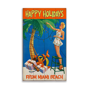 Tropical Blonde Christmas Sign