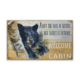 Pace of Nature Cabin Sign