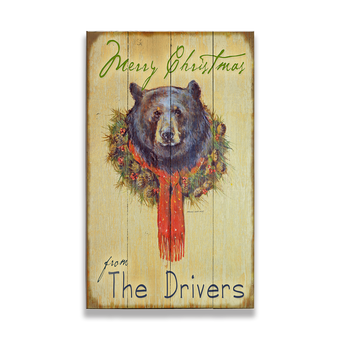 Bear in Wreath Sign