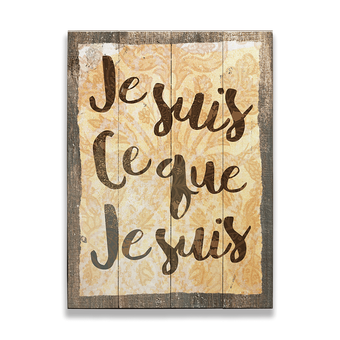 Jesuis Ceque Jesuis Vintage Sign