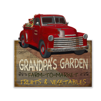 Farm-To-Market (Red Truck) Sign