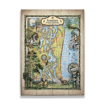 Historic Amelia Island Florida Vintage Map