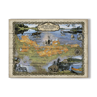 Boundary Waters Minnesota Vintage Map