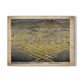 Historic Vintage Map of Bozeman Montana