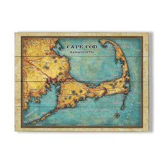 Cape Cod Massachusetts Vintage Map