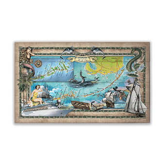 Historic Florida Keys Vintage Map